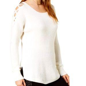 NWT Bar III High- Low Knit Sweater